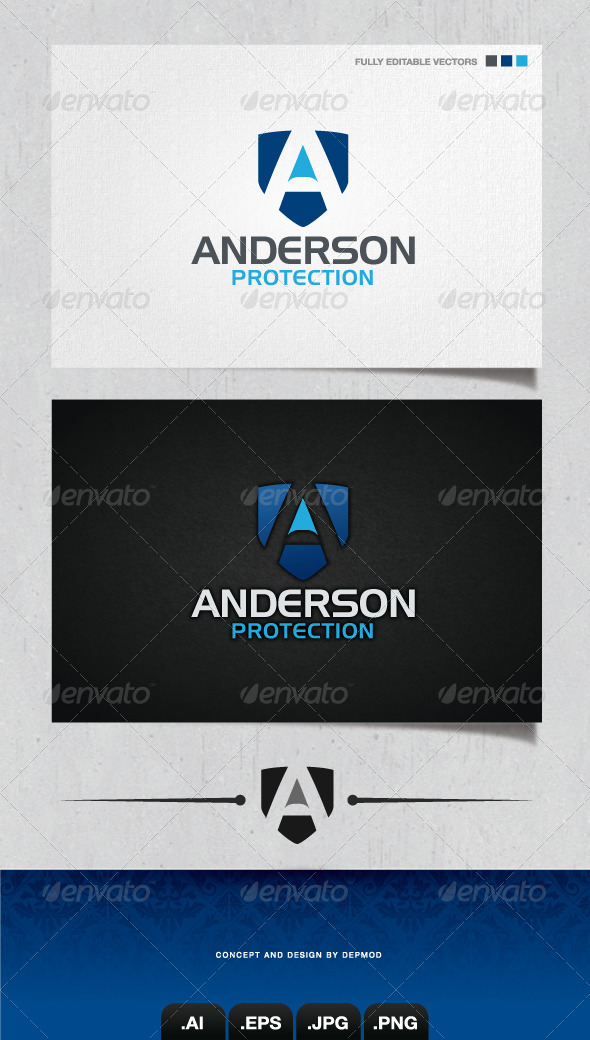 GraphicRiver Anderson Protection Logo 4051812