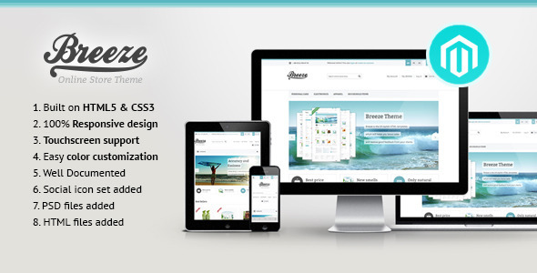 Breeze Responsive Magento Theme