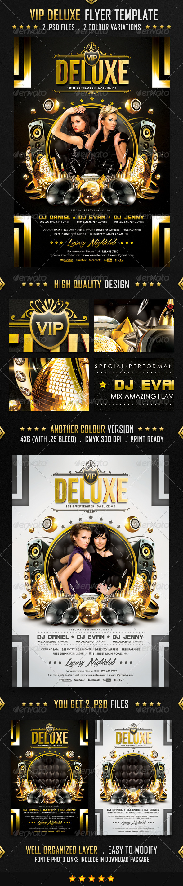 GraphicRiver VIP Deluxe Flyer Template 4119784