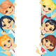 Vector Happy Smile Kids and Banner 2 - GraphicRiver Item for Sale