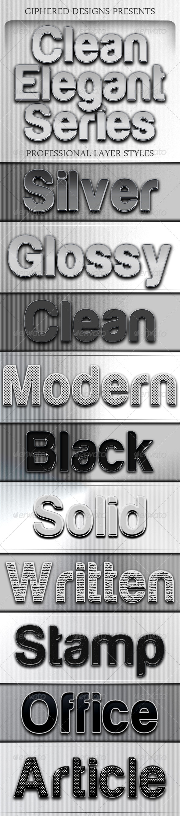 GraphicRiver Clean Elegant Series Professional Layer Styles 4119875