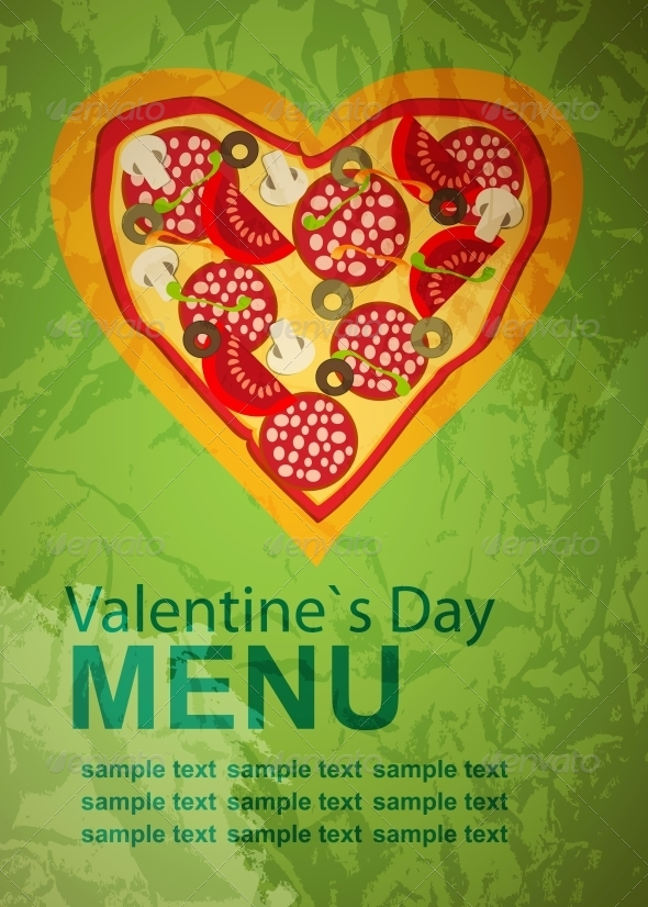 GraphicRiver Pizza Menu Template on Valentines Day 4119878