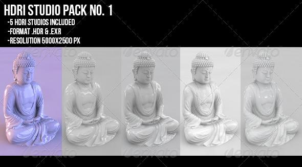 HDRI studio PACK no.1 - 3DOcean Item for Sale