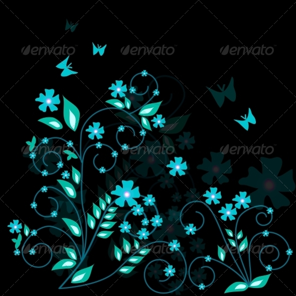 GraphicRiver Floral Background 4119914