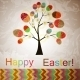 Download Vector Vector Easter Tree with Eggs