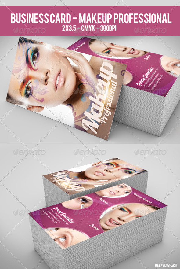 GraphicRiver Business Card Makeup Professional 4002389