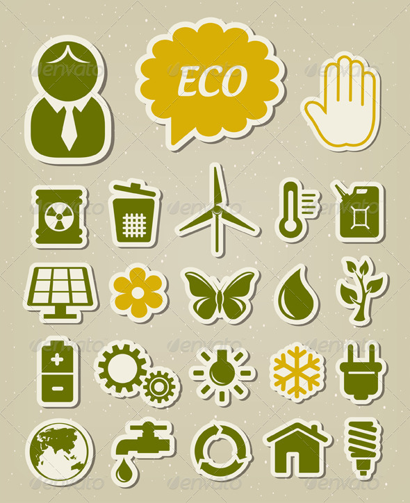 GraphicRiver Ecology Icons Set 4120338