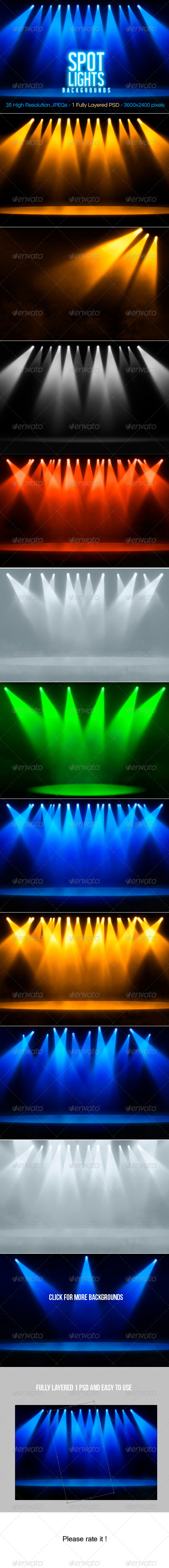GraphicRiver Spotlights Backgrounds 4120432