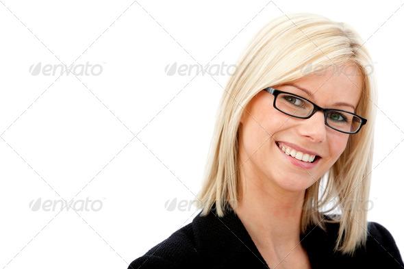friendly business woman portrait - Stock Photo - Images