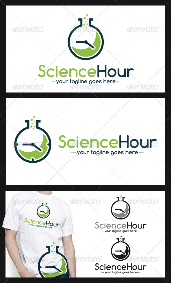 GraphicRiver Science Time Logo Template 4052261