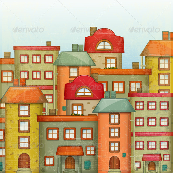 GraphicRiver Town Background 4121017