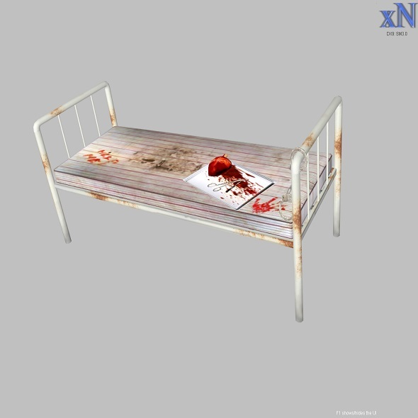 Old Hospital Bed - 3DOcean Item for Sale