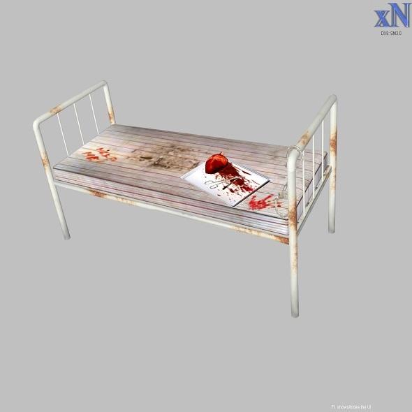 3DOcean Old Hospital Bed 4121494