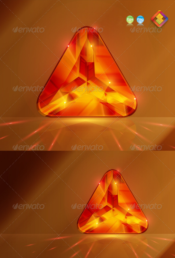 GraphicRiver Triangular Stone Bead in Red Ruby 4121813