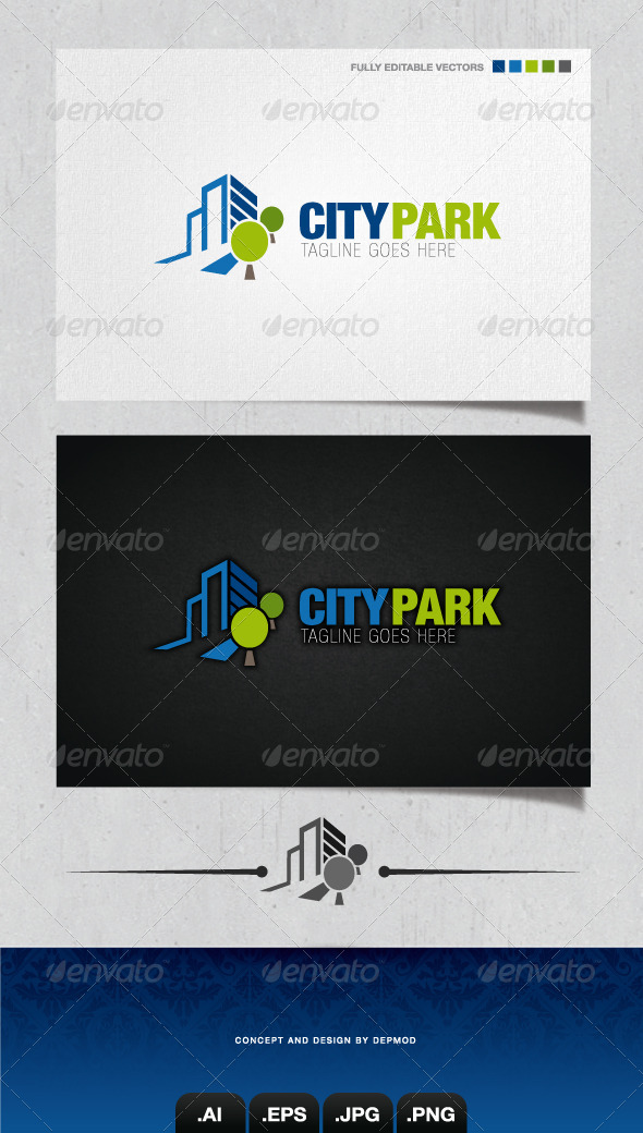 GraphicRiver City Park Logo 4054872