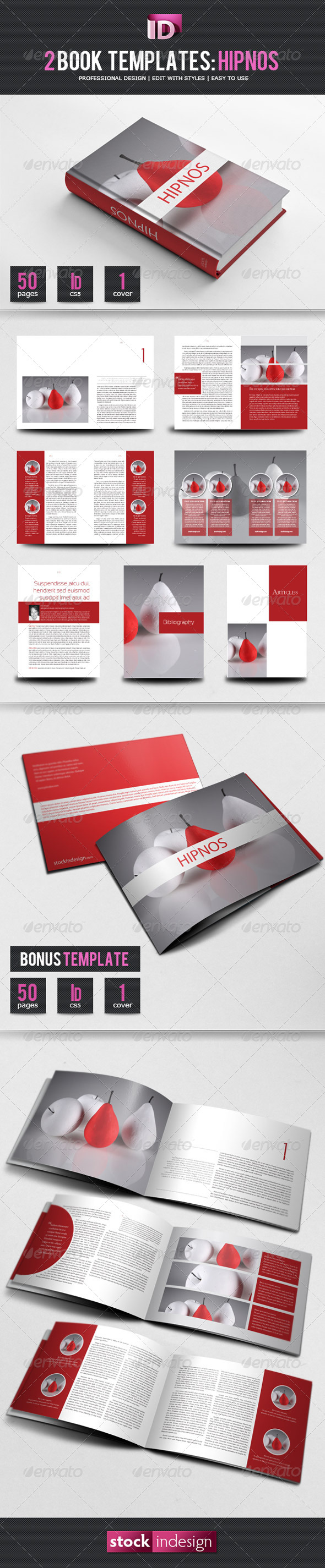 Book Template: Hipnos - Miscellaneous Print Templates