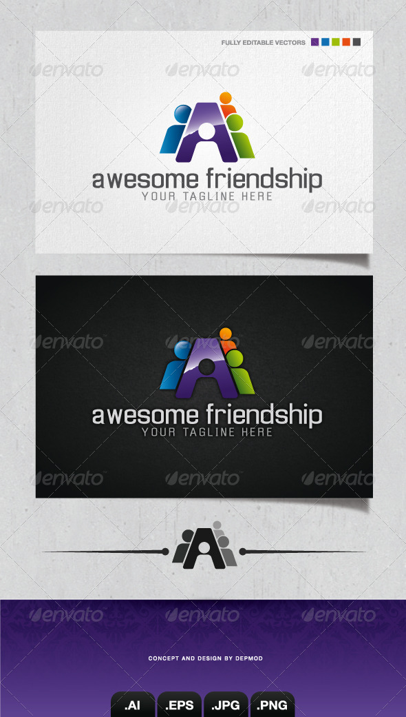 GraphicRiver Awesome Friendship Logo 4054894