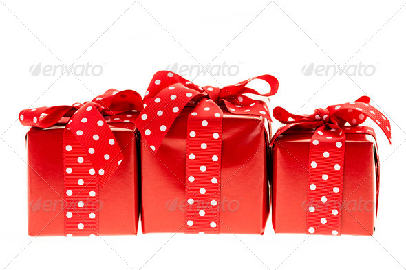 Red gift boxes - Stock Photo - Images