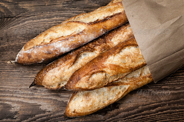 Baguettes bread - Stock Photo - Images
