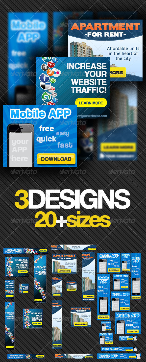 GraphicRiver Multipurpose Banner Ads Bundle 2.0 4123449