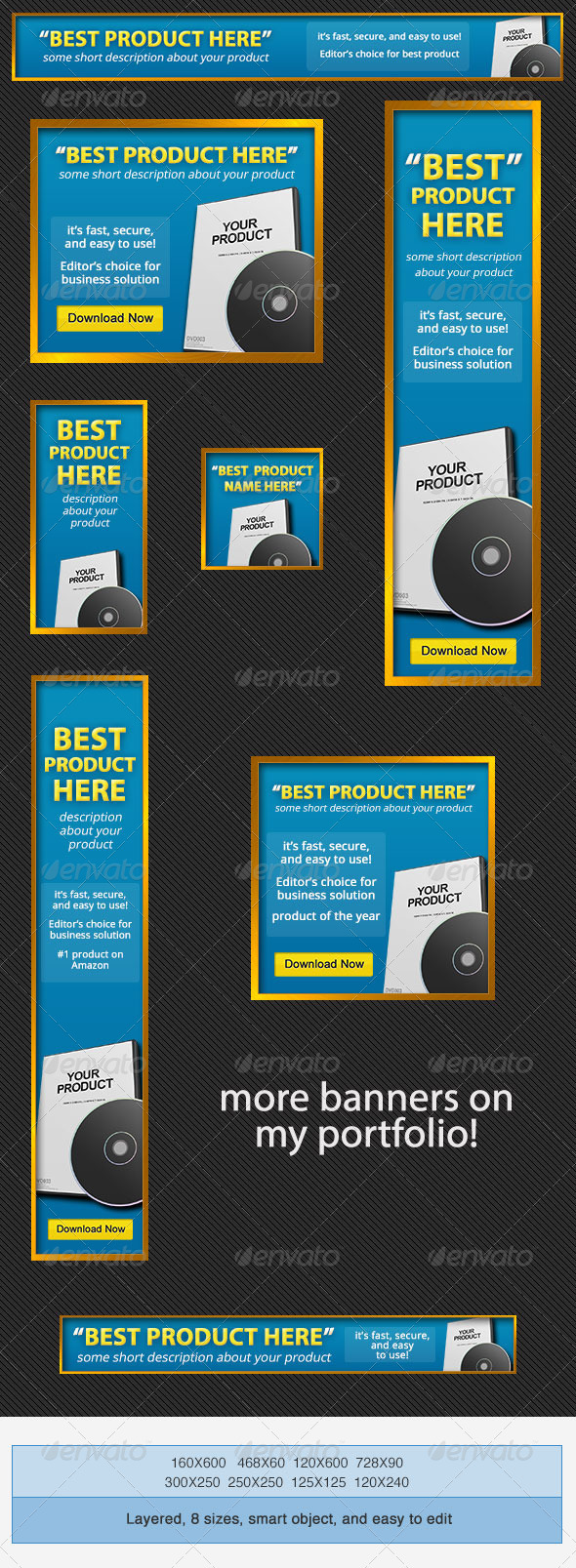 GraphicRiver Product Banners Ad PSD Template 4123631