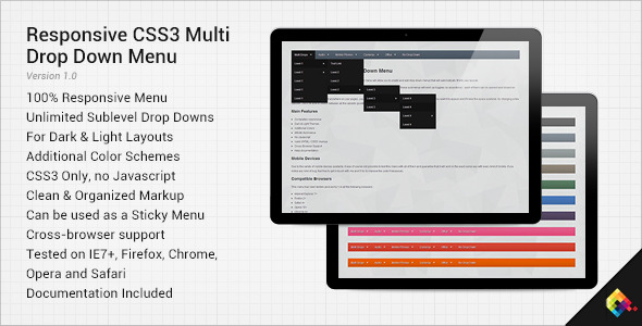 CodeCanyon Responsive CSS3 Multi Drop Down Menu 4124019