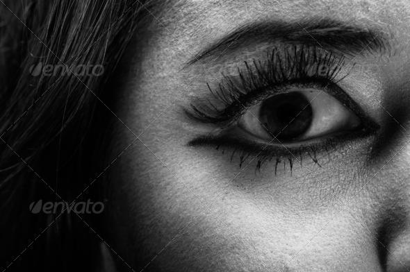 PhotoDune Closeup photo of a terrified girl 4124266