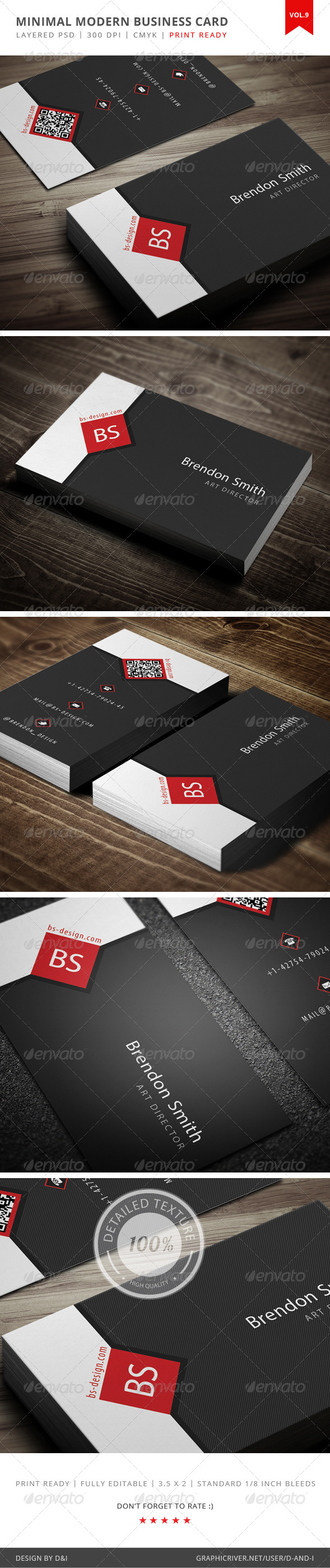 GraphicRiver Minimal Modern Business Card Vol.9 4124366