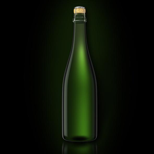 Bottle of Champagne  - 3DOcean Item for Sale