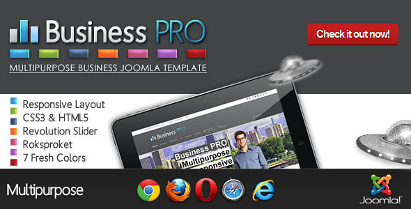 ThemeForest Business Pro Clean Responsive Joomla Template 4124630