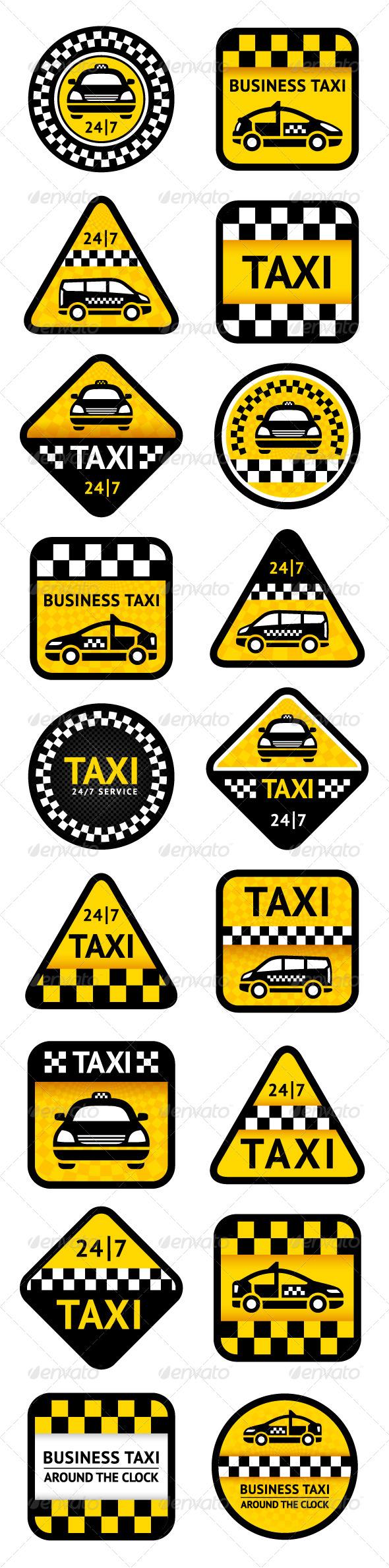 GraphicRiver Taxi Set 18 pcs 4124646