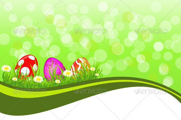 GraphicRiver Greeting Easter background 4125478