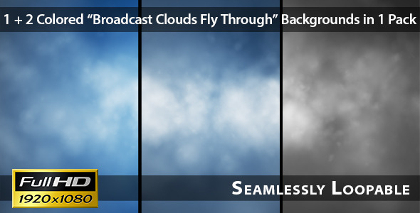 Broadcast Clouds Fly Through Pack 01