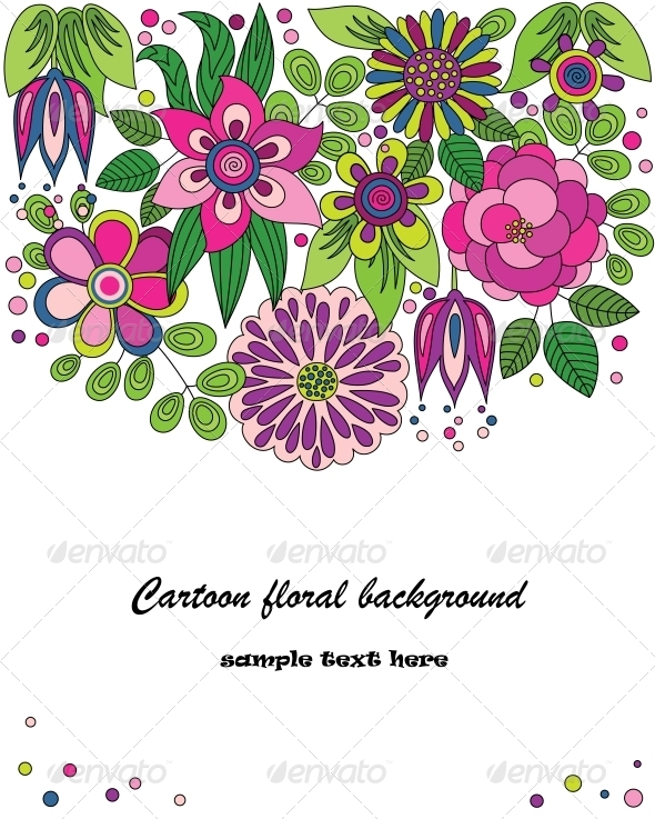 GraphicRiver Cartoon Flower Illustration 4125764