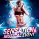 Sensation Musical Event Flyer - GraphicRiver Item for Sale