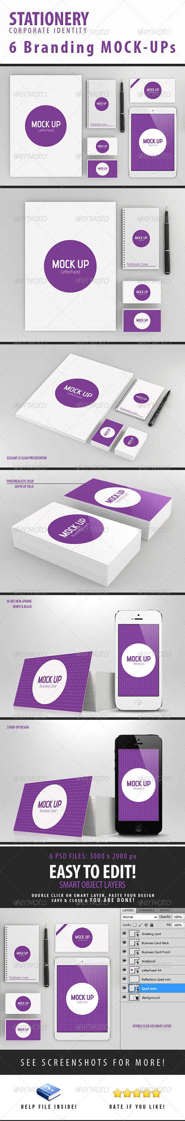 GraphicRiver Stationery Branding Mock-Up 4125953