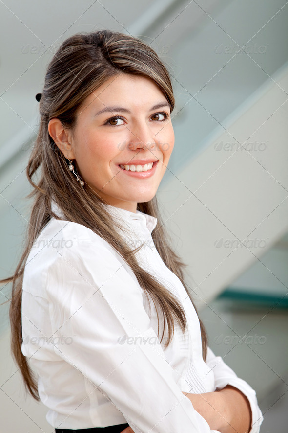 Business woman at the office - Stock Photo - Images