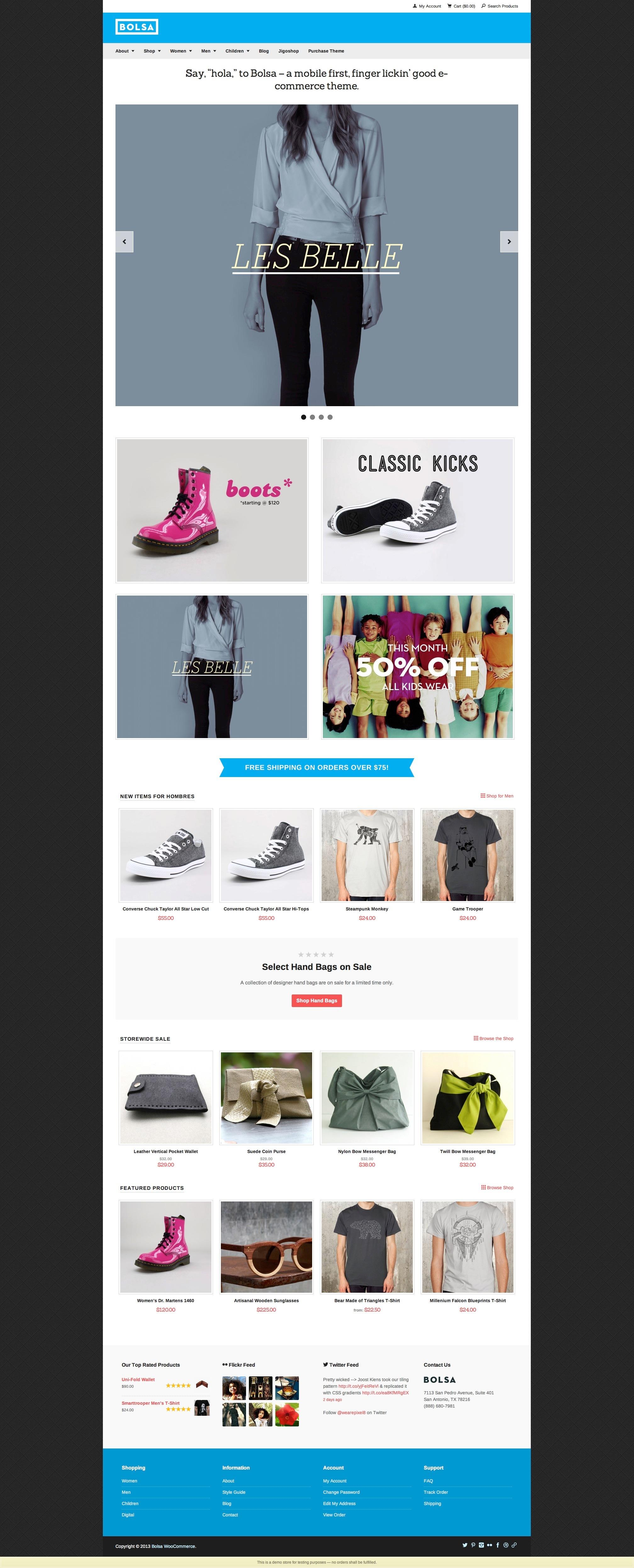 Bolsa A Responsive WordPress E-commerce Theme