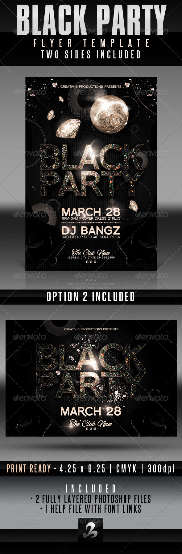 GraphicRiver Black Party Flyer Templates 4126660