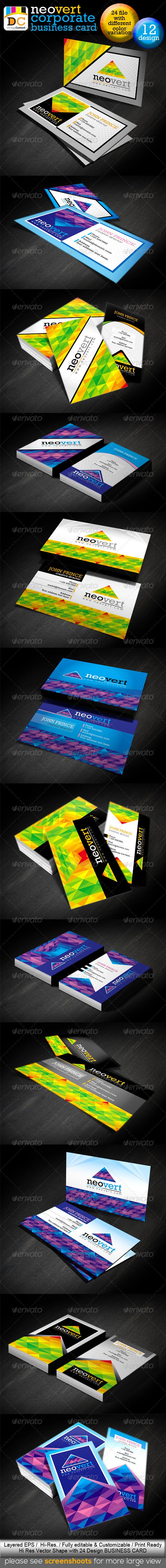 GraphicRiver NeoVert Corporate Creative Business Cards 3906852