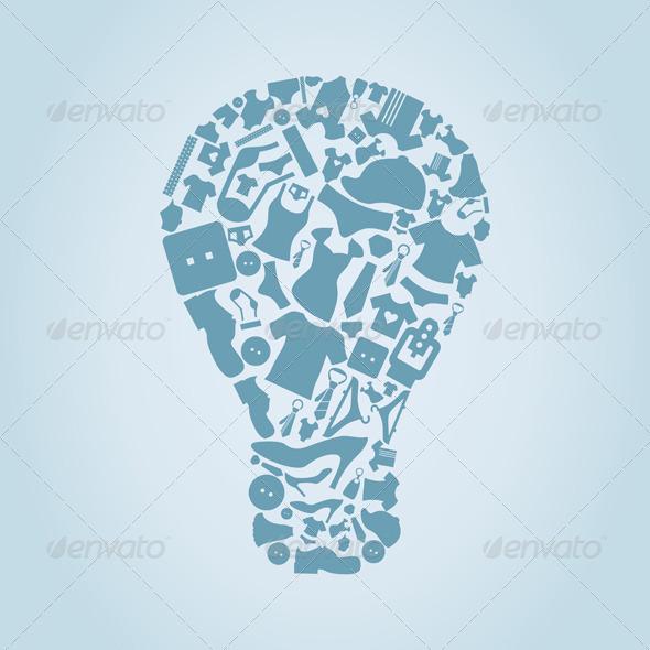 GraphicRiver Clothes Bulb 4126852