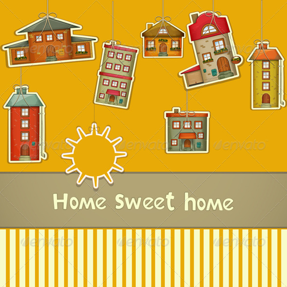 GraphicRiver Set of Houses 4126996