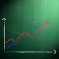 Business chart on blackboard - PhotoDune Item for Sale