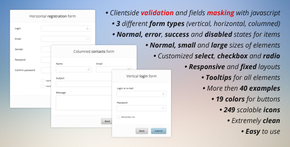 CodeCanyon Pure CSS3 Forms Set & Validation and Masking 4127772