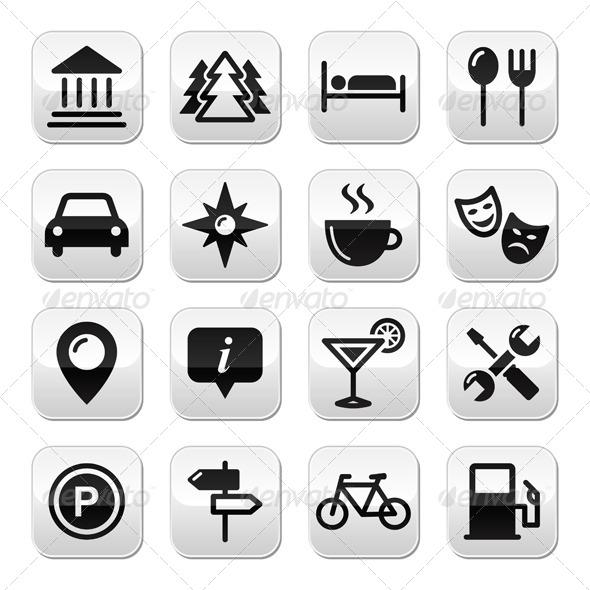 GraphicRiver Travel Tourism Buttons Set 4127778