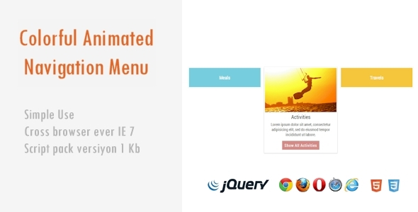 CodeCanyon Colorful Animated Navigation Menu 4114955
