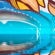 Abstract colorful graffiti reflection in the water - PhotoDune Item for Sale