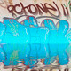 colorful graffiti wall with reflection in water - PhotoDune Item for Sale