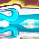 Background wall with graffiti reflection in  water, artistic urb - PhotoDune Item for Sale