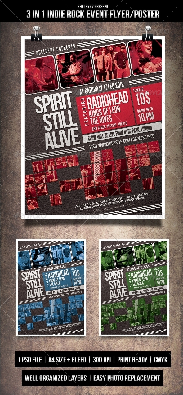 GraphicRiver Indie Rock Event Flyer Poster 3998140